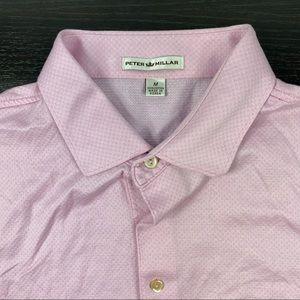 Peter Millar pink golf polos shirt